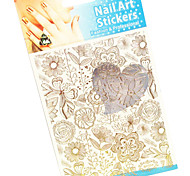 Japan Korea Sticker PVC Flower Nail Jewelry
