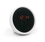 creativo reloj electrónico mudo reloj de mesa reloj llevado reloj de alarma belleza con espejo (color clasificado)