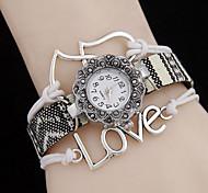 Women's Bohemia Wind LOVE Love Quartz WatchWomen Alloy Diamond Fashion Watch Cool Watches Unique Watches