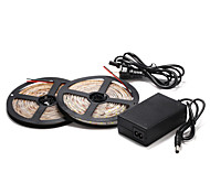 5M 60×2835SMD Warm/Cool White LED Waterproof Strip Light and 12V Power Supply