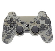 Camouflage Dual-choque Bluetooth V4.0 Wireless Controller cinza para PS3