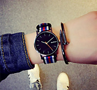Hombre Reloj Cuarzo Reloj de Moda Tejido Banda Reloj de Pulsera