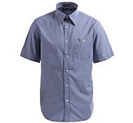 JamesEarl Men's Shirt Collar Short Sleeve Shirt & Blouse Blue - M21X9000704