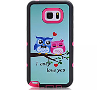 Para Samsung Galaxy Note Antigolpes / IMD / Diseños Funda Cubierta Trasera Funda Búho Policarbonato Samsung Note 5