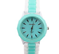 Women's Fashionable Colored Jelly Silicone Watch  Silicone Band