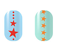 Red/Orange Star Hollow Nail Stickers