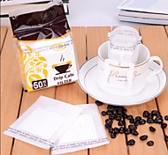 Portable Drip Coffee Filter Paper Coffee Filter Bag Filter Foaming,Set of 50