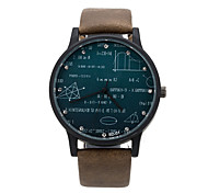 Unisex watches FEIFAN Watch Digital watches formula Geometric equation Watch letter Leather montre homme Wrist Watch Cool Watch Unique Watch