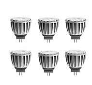 G4 Focos LED MR11 4 SMD 2835 300 lm Blanco Cálido Decorativa DC 12 / AC 12 V 6 piezas
