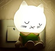 kreativ warmweiß schläfrige Katze Lichtsensor in Bezug auf Baby-Schlaf-Nachtlicht
