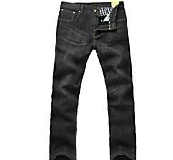 Lesmart Hommes Jeans / Droite Pantalon Noir - MDMK3250
