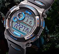 orologio quadrante rotondo orologio casuale cinturino in PU orologio da polso digitale degli uomini pasnew di (colori assortiti)