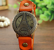 Woman's   Leather Hollow Retro Flip   Watch