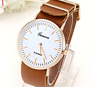 Men's Casual Fashionable Geneva Slim Leather Watch Wrist Watch Cool Watch Unique Watch