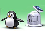 Negro / Blanco Powered Gadgets solares / juguetes de bricolaje para el muchacho ABS