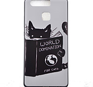 Kitty Watch Black Edging Soft TPU Phone Case for Huawei Ascend P9/P9 Lite