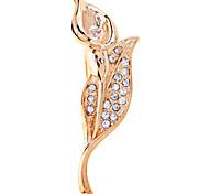 Charms jewelry Tulip diamond brooch for women