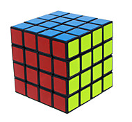 Magic Cube IQ Cube Four-layer Speed Smooth Speed Cube Magic Cube puzzle Black PVC / ABS