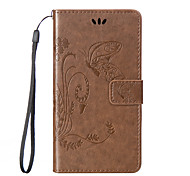 Butterfly Pattern Inside and Outside Printing the Card Holder Lanyard PU Phone Case for Huawei G8/G8mini/Honor5X/Honor7i