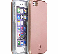 For iPhone 6 Case iPhone 6 Plus Case Case Cover LED Back Cover Case Solid Color Hard PC foriPhone 6s Plus iPhone 6 Plus iPhone 6s iPhone