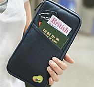 Multifunctional Passport Bag Document Bag Document Bag Large Capacity Card Package Random color