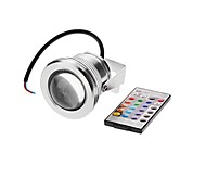 10W Focos LED 1 LED Integrado 500 lm RGB Impermeable AC 12 V 1 pieza