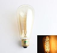 1 pezzo Zweihnder E26/E27 40W 1 COB 500 lm Bianco caldo ST64 edison Vintage Lampadine LED a incandescenza AC 220-240 V