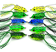 5.5cm 8.5g/Pcs Pocket Frog Lures Double Hook Bait Frog Rana Mini Ray Frog Bait Software 5 PC