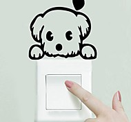 Cute Dog Baby Pet Light Switch Funny Wall Decal vinyl Stickers DIY Decoration