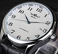 Men's Classic Auto Mechanical Black Leather Band Wrist Watch Cool Watch Unique Watch