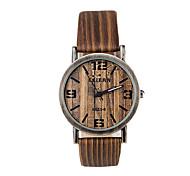 Herren Damen Unisex Modeuhr Uhr Holz Quartz Holz Band Weiß Braun Gelb Beige Weiß Beige Gelb Kaffee Braun