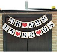 Перламутровая бумага Свадебные украшения-1шт / комплект Весна Лето Осень Зима Персонализированный