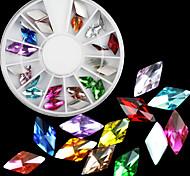 preciosa 24pcs acrílico 6 * 11 mm de diamantes de joyería de uñas japonés