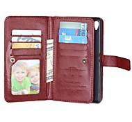 pu Ganzkörper Fall mit 9-Kartenslot für Sony Xperia Z3 / Z4 / Z5 / Z5 compact / m4 (verschiedene Farben)