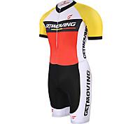 Getmoving® Tri Suit Unisex Short Sleeve BikeBreathable / Quick Dry / Anatomic Design / Moisture Permeability / Compression / Lightweight