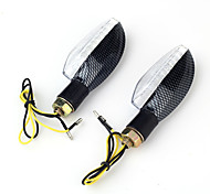 2x Yellow Motorcycle 18LED Turn Signal Indicator Light Lamp Bulb DC12V 1.2W 10mm