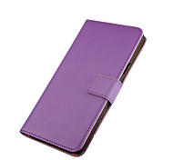 Solid color Stylish Genuine Leather Flip Cover Wallet Card Slot Case with Stand for Huawei Ascend P9