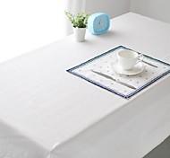 Pure White Table cloth Fashion Hotsale High-grade Cotton Linen Square Coffee Table Cloth Cover Towel