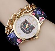Women's Bohemia Wind PU Chain Quartz WatchWomen Alloy Diamond Fashion Watch Cool Watches Unique Watches