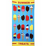 Fashion Reactive Print Beach Towel,27.5 by 59 inch