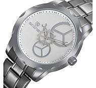 Hommes Bracelet Montre Quartz Acier Inoxydable Bande Argent Marque-