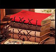 320 pages Corée du rétro surface de simili cuir européen portables créative (couleur aléatoire)