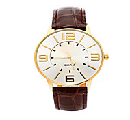 Men's Europe And The United States Fashion PU Belt Analog Display Quartz Watch(Assorted Colors)