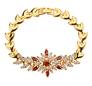 Vintage Jewelry 18k Gold Plated Mix Color Cubic Zirconia Bracelet Luxury Jewelry Women Wedding Jewelry Gifts B40158
