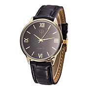 Men's Japanese Quartz Black Leather Band Dress Watch Jewelry Wrist Watch Cool Watch Unique Watch