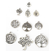 Beadia Antique Silver Metal Charm Pendants Lucky Tree DIY Jewelry Pendant