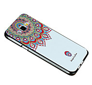 Relief Graphic Pattern Fashion Silicone Material Back Cover for Galaxy A8
