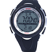 Men's Round Dial Multifunctional Digital Sport Water Resistance Wristwatch Assorted Colors