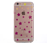 Star Thin Material Transparent TPU Phone Case for iPhone 5/5S /5E/6/6S/6 Plus/6S Plus
