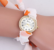 Women's Fashionable Leisure Diamond Bracelet Watch Leather Band